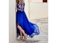 PROM/ EVENING BLUE LACE DRESS