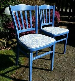 Set of 2 occasional chairs Upstyled upcycled