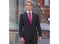 Brand new black slim fit suit