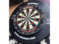 Winmau dartboard and surround.