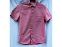 Burton boys small (fitted) pink and white shirt chest 89-96cm