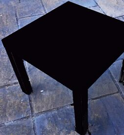WHITE SIDE TABLE.55cm x 35cm.in top condition.Legs can be removed. £7.Also Black available
