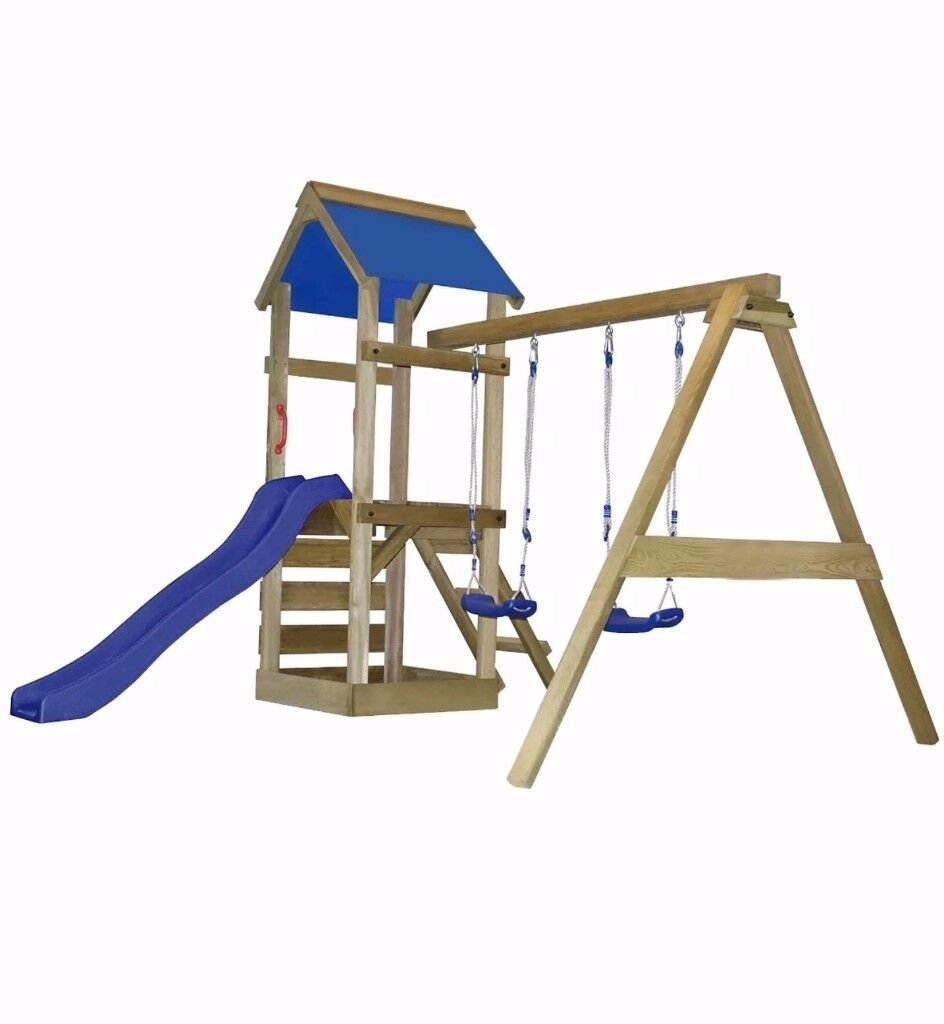 Brand new, still boxed outdoor play area with swings and climbing ...