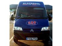 Blackpool Man And Van. FULLY INSURED. THE CHEAPEST AROUND! House Moves. Single Items. Long Distance.