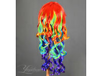 Rainbow wig|Multicolor wig - long and ideal for cosplay and party
