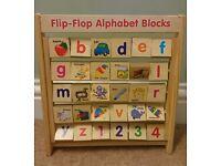 Flip Flop Alphabet Block