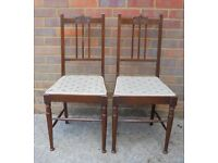 A pair of Edwardian mahogany chairs, c1901-1910.