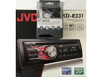JVC Car Radio KD-R331 + BT MATE Adaptor
