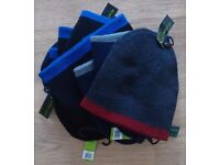 Joblot of 10 Brand New Winter Contrast Reversible Beanie Hats with Tags
