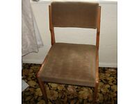 2 upholstered dining chairs