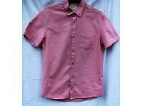 Burton boys small pink & white short sleeved shirt chest 89-96cm