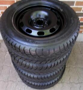 195 65 15 - GISLAVED NORDFROST 5 - SNOW TIRES on VOLKSWAGEN OEM RIMS - 5x100 - 3 SETS TO CHOOSE FROM