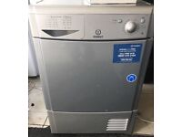 INDESIT 8kg grey/silver condenser dryer £100 free delivery good condition