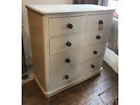 Hand Painted Mahogany Chest Of Drawers