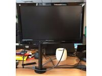 ViewSonic Monitor with desk monitor - excellent condition