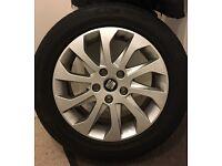 "4 x 16"" Seat Leon Alloy Wheels + Bridgestone Tyres immaculate cond!"