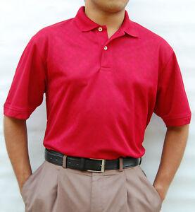 NWT-HATHAWAY-CoolMax-Jacquard-Golf-Polo-Shirt-M-2XL