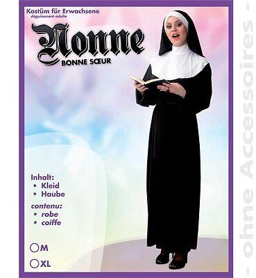 Nonne Kostüm Gr. M XL Geistliche Nonnegewand Nonnekostüm 12151613