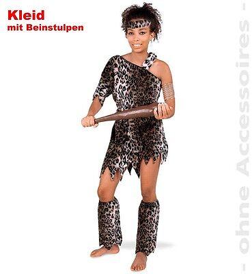 Kleid Leopard Kostüm 36-44 Höhlenmensch Katze Leo Karneval Fasching - Mensch Katze Kostüm