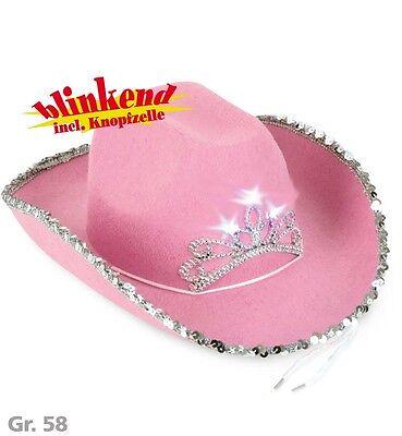 Texas Cowgirl blinkend Cowboyhut rosa pink Bride to be Cowboy Hut JGA 123815813 - Rosa Cowgirl