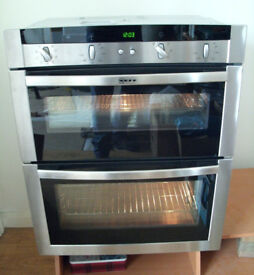 Neff Integrated Built in Under Counter Electric Double Oven Cooker