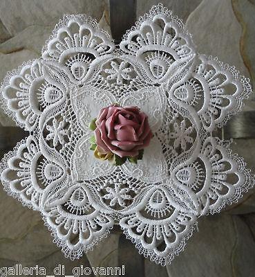 """Delicate Trim Lace Doily   Estate Design  11""""  White"""