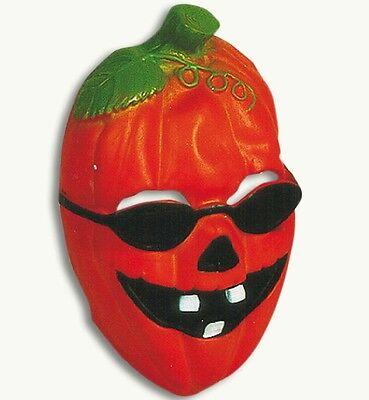 Kindermaske Pumpkin Kürbis mit Sonnenbrille Halloween Kürbismaske 126062113 ()