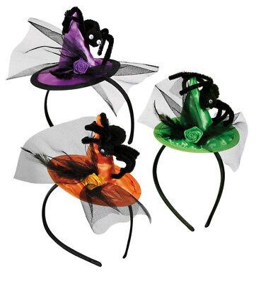 Haarreif mit Hexenhut in drei verschiedenen Farben für Erwachsene 125705813F (Grüner Hut Für Erwachsene)