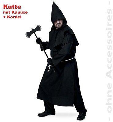 Fasching Halloween Henker Inquisitor Kutte mit Kapuze und Kordel Gr. XL (Henkers Kapuze Kostüm)