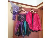 Girls Halloween Witch and Vampire/ Devil Dressing Up Costumes