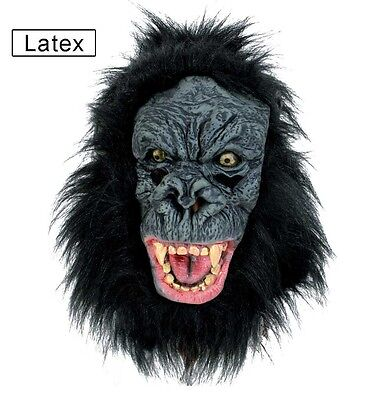 Gorillamaske Gorilla Maske Affenmaske Tiermaske Horror Vollkopfmaske 126034913