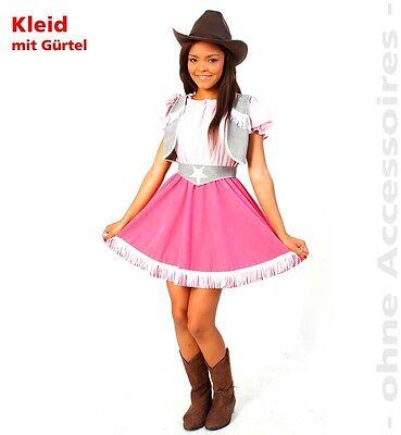 Cowgirl Cassy Kostüm 140-164 Kostüm Linedance Western Karneval Kleid - Line Dance Kostüm