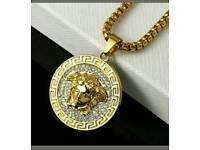 18k gold plated versace pendant