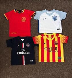Boys 3-6 month genuine football shirts
