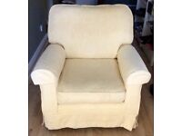 Small cream armchair. Excellent condition. Fully washable covers