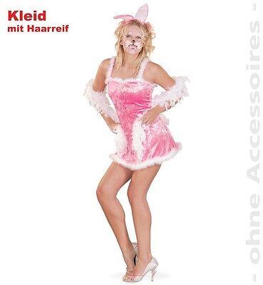 Sexy Bunny Kostüm 36-42 rosa Hasenkostüm Hase Ostern Fasching - Sexy Oster Bunny Kostüm