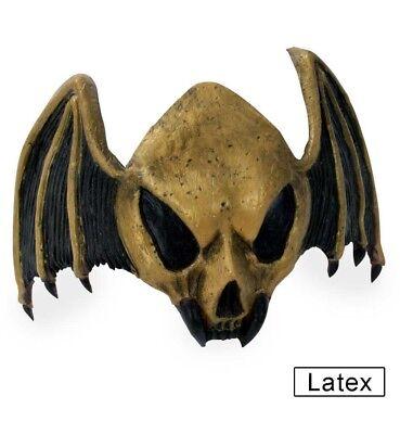 STIRNMASKE FLEDERMAUS BAT LATEX HALBMASKE HALLOWEEN HORROR MASKE 126048813