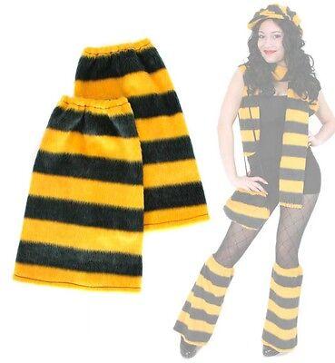 Stulpen Biene Beinstulpen Plüsch Kostüm Karneval Fasching 125666813