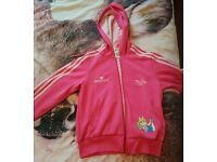 Adidas limited miss piggy zip up hoodie