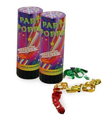 Party Popper, 2er Pack, Karneval, Silvester, Party 123403613F ()