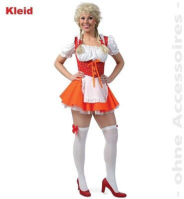 Mini Dirndl rot orange Oktoberfest sexy Kleid Damen - G Fest Kostüme