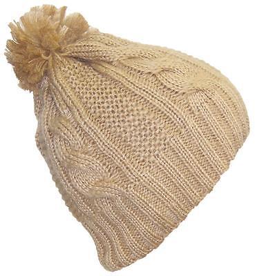 Best Winter Hats Women's Cable Knit Cuffless Cap W/3 1/2