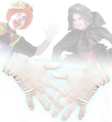 weiße Handschuhe für Vampir Clown Clownhandschuhe Vampir Mario 125641013