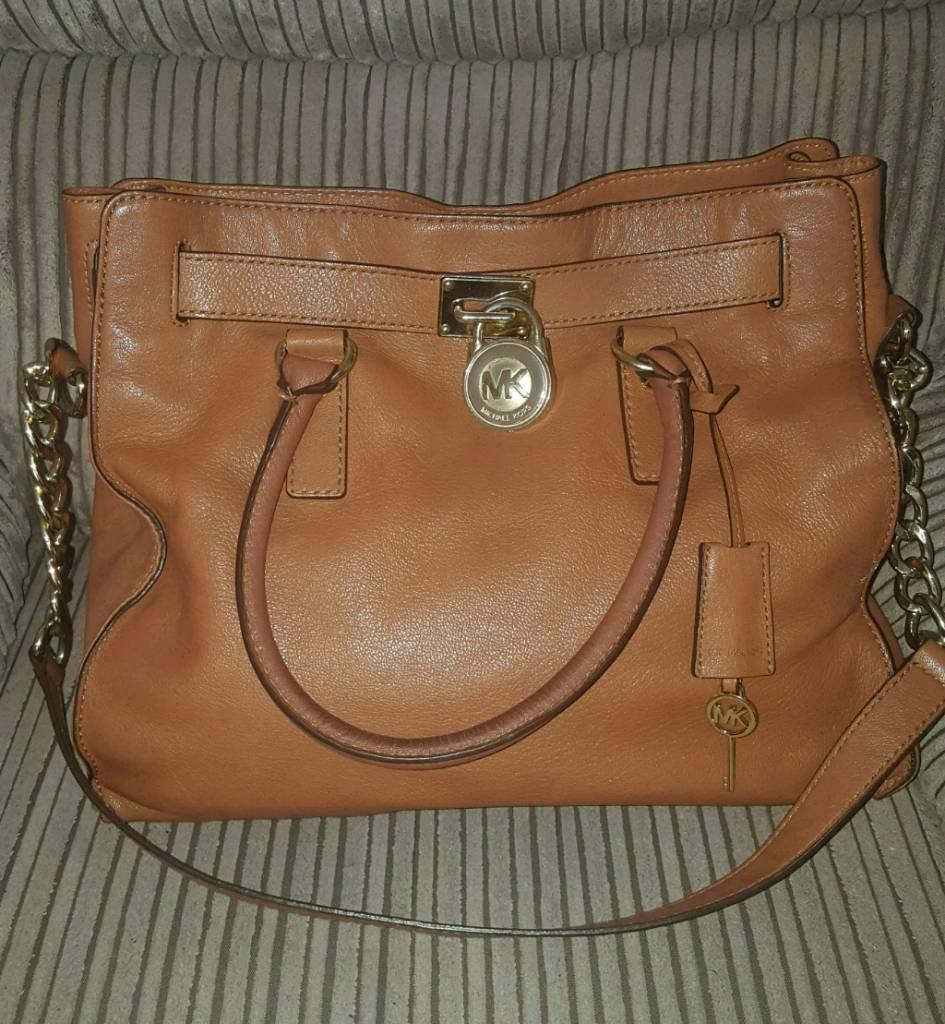0d874458234b Michael Kors Large Hamilton Padlock Tote Tan Bag. Coat £350! | in ...