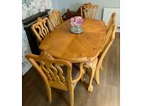 Canadian Maple Solid Wood Table & 6 Chairs