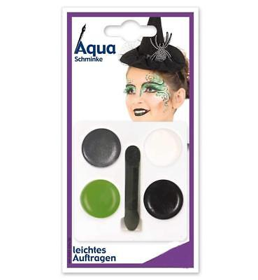 Hexe Aqua Schminke Make up 4 Farben Kinderschminke Halloween 123161313 ()
