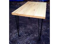 Brand New table with the black hairpin legs plus 4 chairs