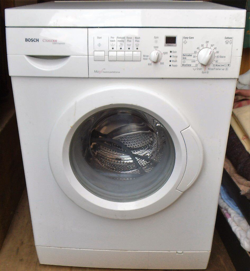 Bosch Classixx 1200 Express Washing Machine Manual 2019