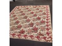 Large Jacobean Design Needlepoint Rug, Carpet, 227 x 282 CM