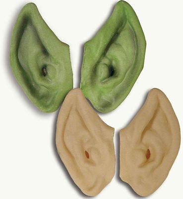 Elfenohren grün / hautfarbig Pixie Spitzohren Elfenkostüm Elbenohren 125803913